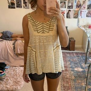 anthropologie tank flare top!